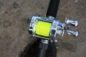 Fisheagle CL50 multiplier reel on rod