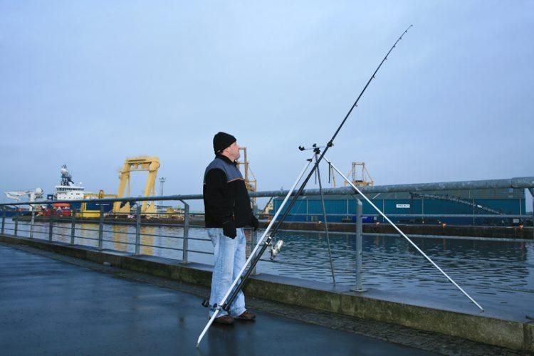 Fisheagle Super Deluxe Match Tripod on the pier