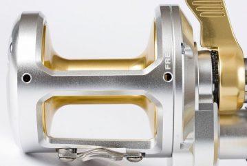 Shimano Talica 2-speed reel showing taper