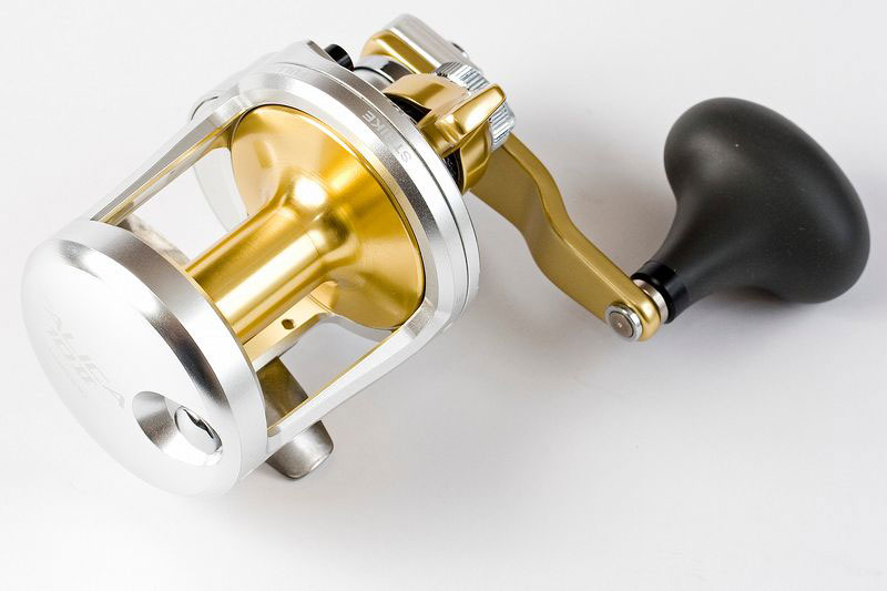 Shimano Talica 2-speed reel from above