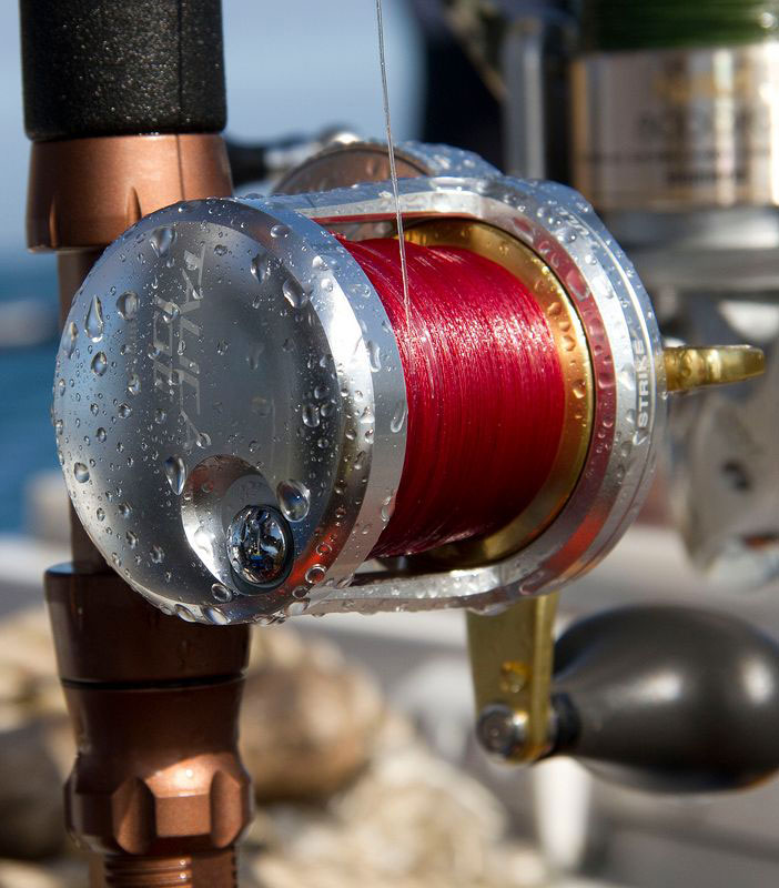 Shimano Talica 2-speed reel in action at sea