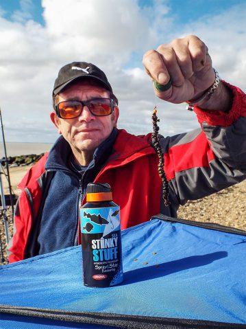 Stinky Stuff Bait Additive treated bait