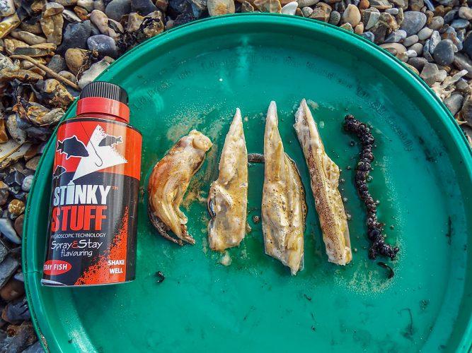 Stinky Stuff Bait Additive treated baits