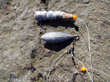 shore fishing Iceland baited rig