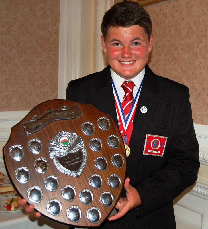 Junior Home International Shore Championship trophy