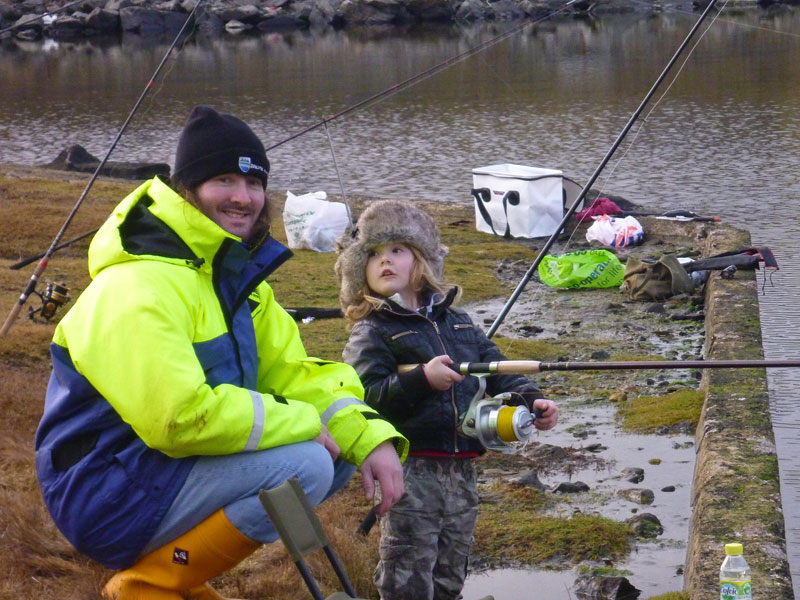 Mark and Isaac fishing the sea loch