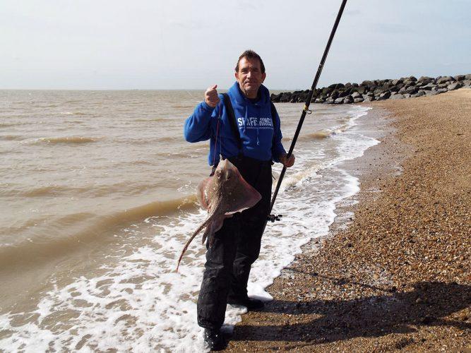 fishing St Osyth beach thornback ray