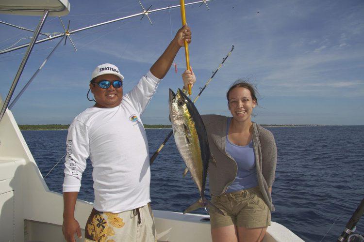 Bronwyn's tuna safely aboard