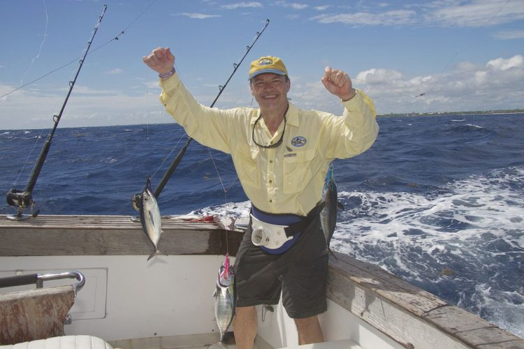 Des gets a treble hit of Blackfin tuna