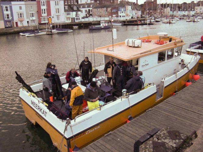wibac boat fishing weymouth meerkat in harbour