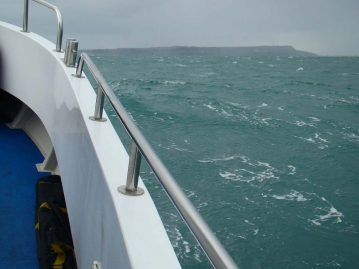 wibac boat fishing weymouth rough seas