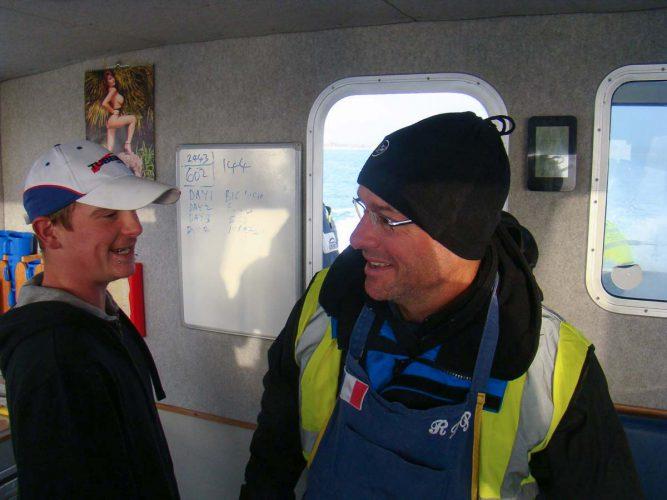 wibac boat fishing weymouth Francis in wheelhouse