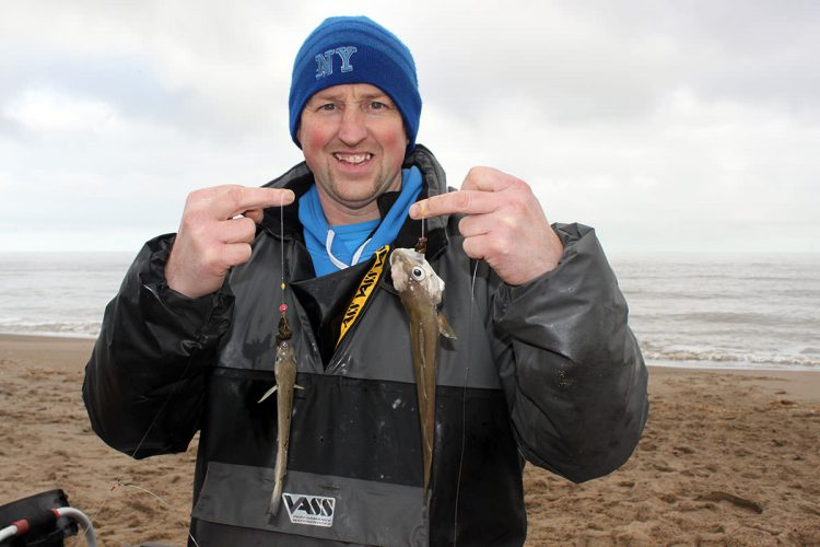 AGM match winner Adie Cooper with a double shot of small whiting