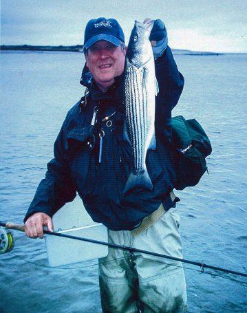 striper fly fishing success