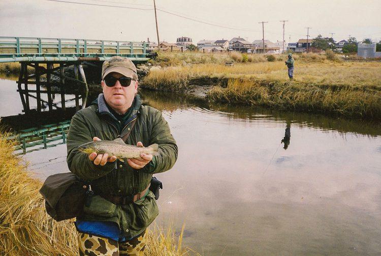 Jack Hanley with sea-run brown trout