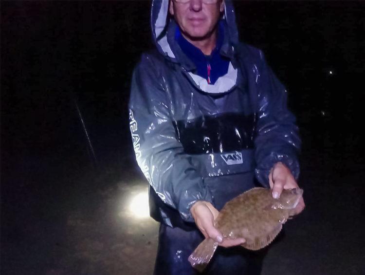Dene with his flounder