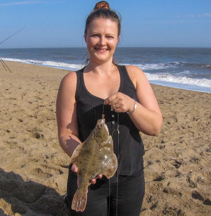 Match winner Lisa with the longest flatfish