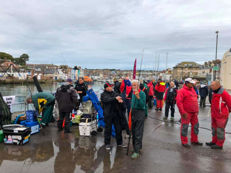 Anglers ready for the off on day one