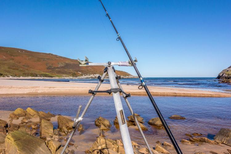 Fishing over the bank