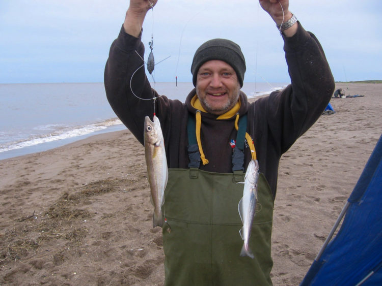 Third placed Ian Nelson with a whiting double