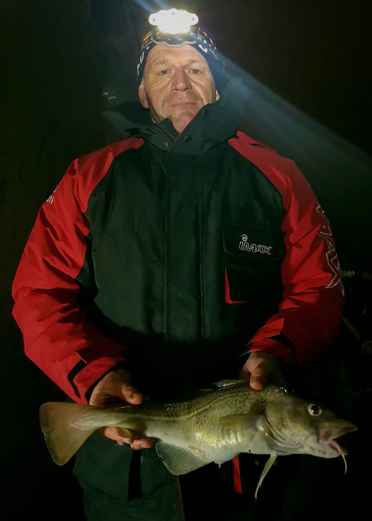 Paul Johnson with his first cod of the year