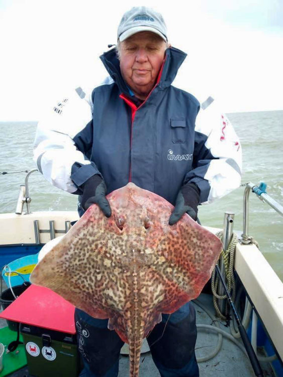 Ray Hempstead with his 13lb thornback ray