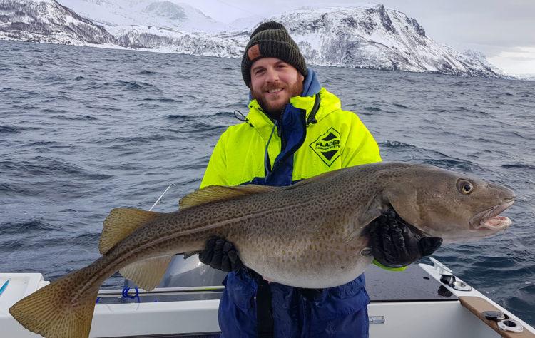 Anthony Georgiou and a 44lb cod
