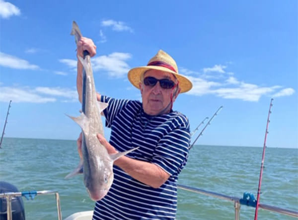 Tim Bird fished from his own boat off the Frinton coastline and landed this fine smooth hound