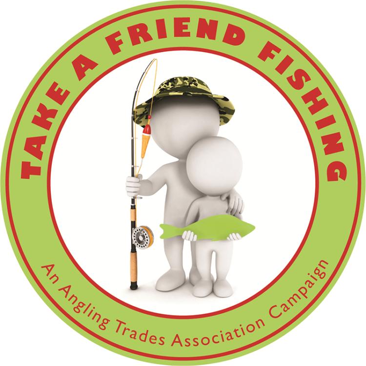 take a friend fishing logo