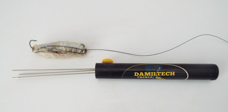 Damiltech Bait Up Fork completed bait