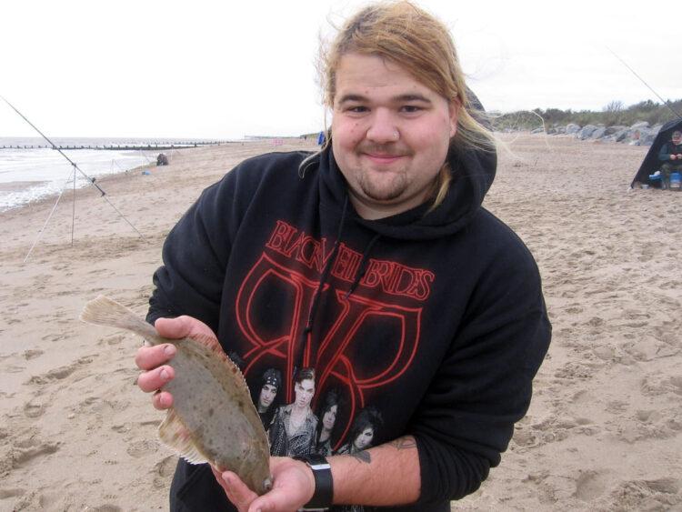 Kieran Brown with the longest flatfish