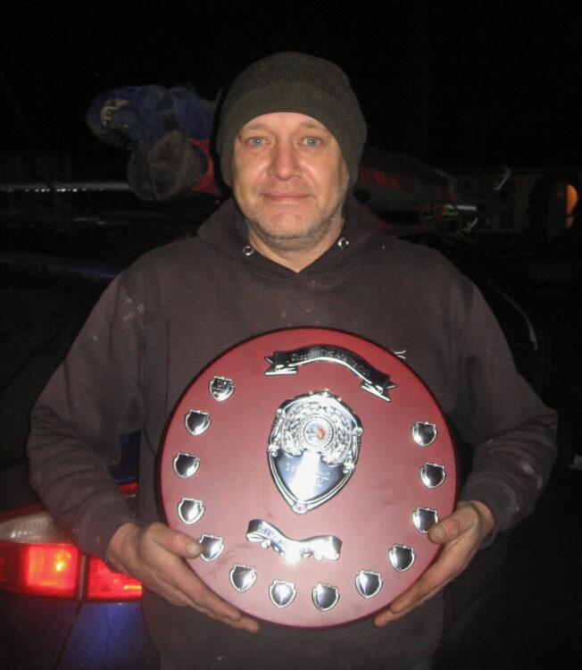 To the winner, the spoils! Match winner Ian Nelson