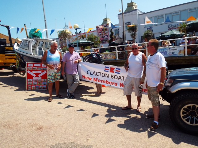 Clacton Boat club members at the Sea And Beach  Festival