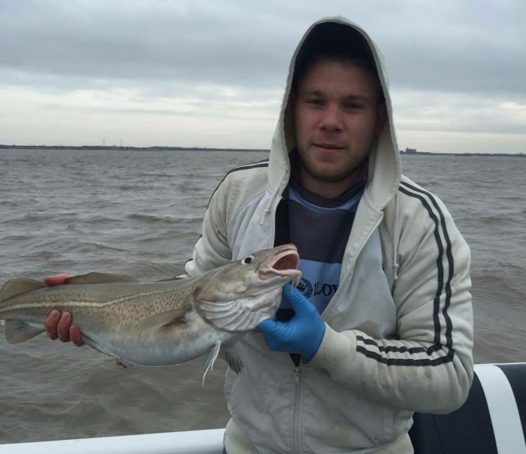 Kevin Fletcher with his largest cod