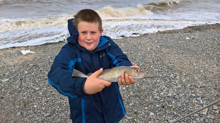 Nicholas with his codling