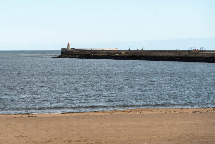 North east pier and beach