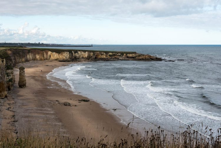 Marsden beach looking towards South Shields