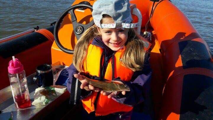 Caitlin with a flatfish