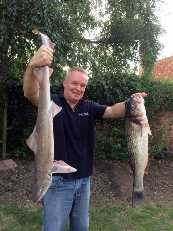 Local angler Neil Marples with part of his catch from his own boat Milore out of Titchmarsh Marina