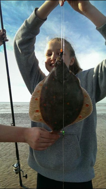 Mia with her lovely plaice