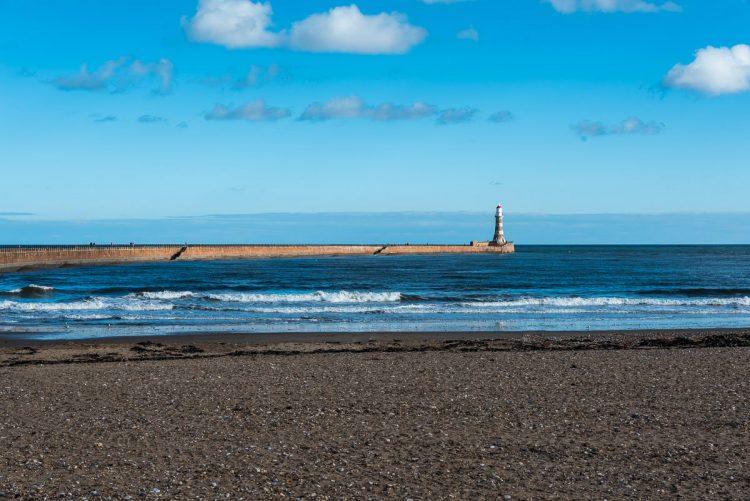 Roker beach and pier