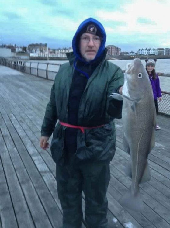 Barry Adair with his 6lb 4 oz cod