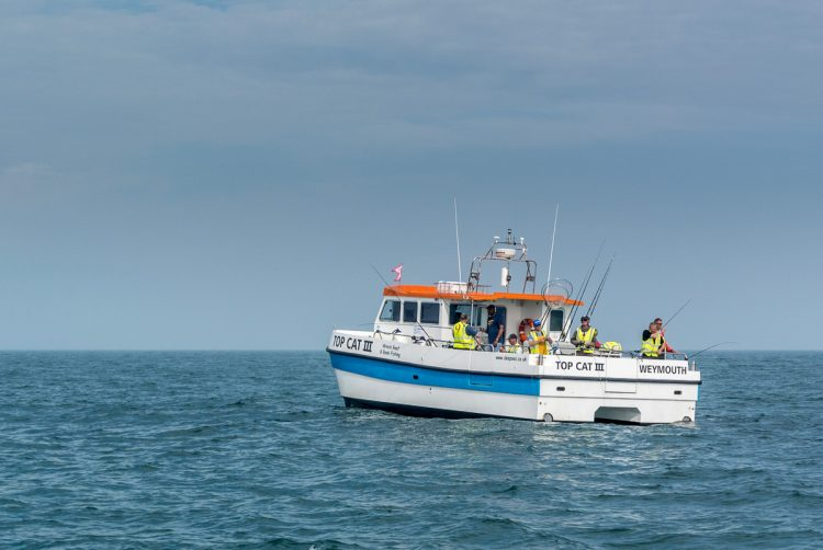 Weymouth charter boat offshore