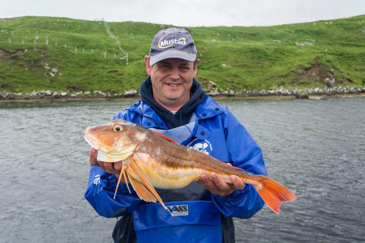 Derek Yuille with the Scottish boat record tub gurnard