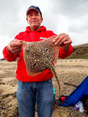 John displays the markings on a small ray