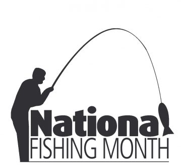 national fishing month logo