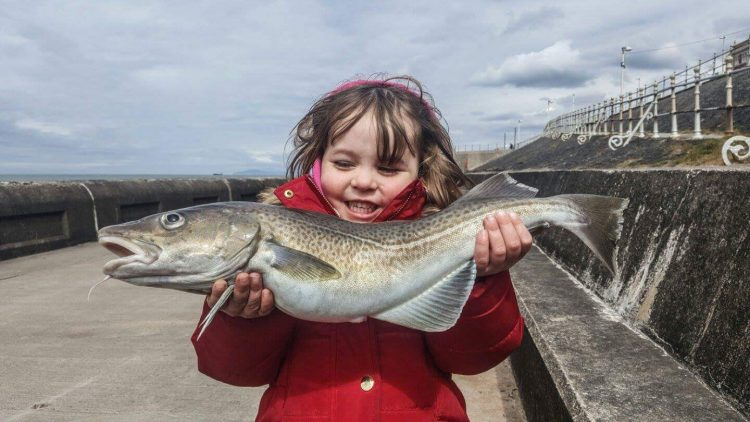 Young Mollie and her cod
