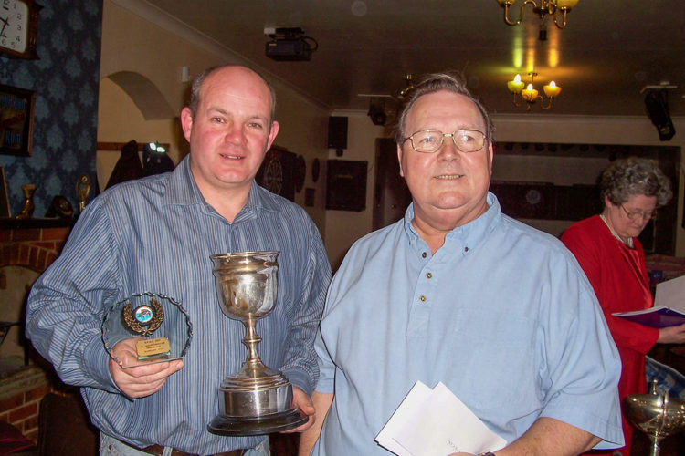 Bev on right presenting trophies