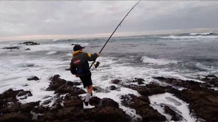 Daniel hooked into a gully shark