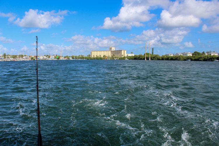 Leaving harbor in Key West
